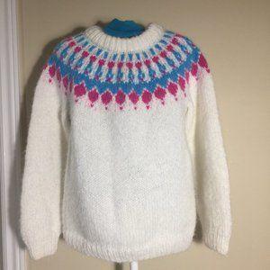 Handknit Fair Isle Girls Sweater